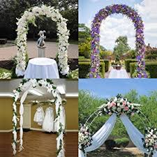 Wedding Arches Using Tulle Amazon Com Adorox 7 5 Ft White Metal Arch Wedding Garden Bridal