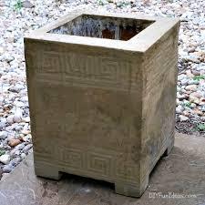 how to make a gorgeous diy concrete planter