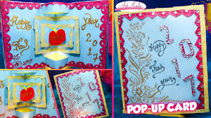 diy 3d new year pop up card easy how to make