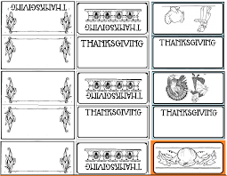 printable placecards printable place cards for thanksgiving the common room
