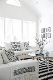 Best Colorblack And White Images On Pinterest Living Room - Black and white family room