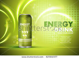 energy drink on sparkly shiny backgroundcontained stock vector