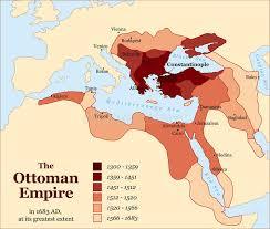 Ottoman Empirr Turkey Ottoman Empire Acquisitions History Stock Vector