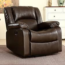 Living Room Chairs That Swivel Belleze Faux Leather Rocker And Swivel Glider Recliner