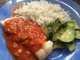 recette cuisine poisson filets de poisson sauce tomate curry courgettes et riz basmati par