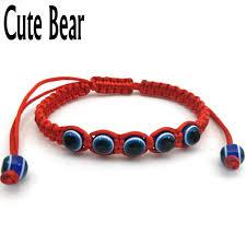 lucky red string bracelet images Cute bear red string fatima hand string blue eyes evil eye jpg
