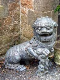 lion dog statue sculpture lion dog and bronze traditional portal