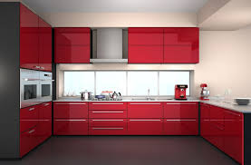 Gloss Red Kitchen Doors - red gloss kitchen cabinets imanisr com