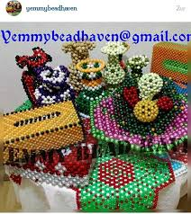 Beaded Vases Beaded Flower Vases And Table Cover Fashion Nigeria