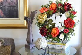 Artificial Flowers Home Decor by Buy A Hand Made Front Door Wreaths Roses Wreath Peony Wreath