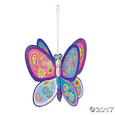 3d butterfly ornaments with stickers