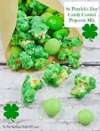 st patrick u0027s day candy coated popcorn mix for popcorn lover u0027s day