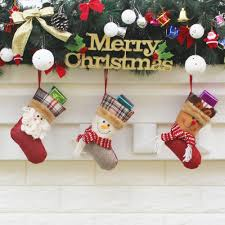 3pcs set christmas hanging stockings santa snowman reindeer sales