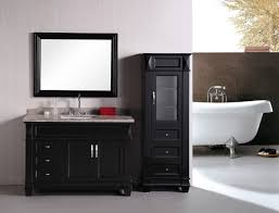 captivating black vanity bathroom furniture of tall narrow cabinet