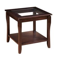 soho end table with glass top home envy furnishings solid wood