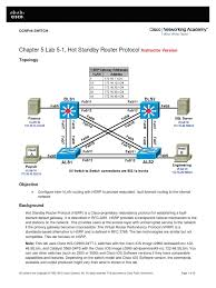hsrp instructor lab manual network switch router computing