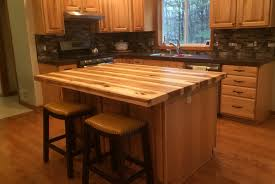 hickory kitchen island handmade solid hickory bar top island top by glessboards