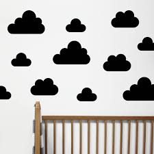 cloud wall stickers by little chip notonthehighstreet com small black