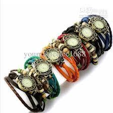 weave wrap bracelet images Retro quartz fashion weave wrap around leather bracelet bangle jpg