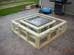Diy Firepit Table How To Make A Wood Table Into An Outdoor Pit With Glassel