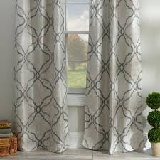 grand manor gray curtain panel set 108 in grey curtains living