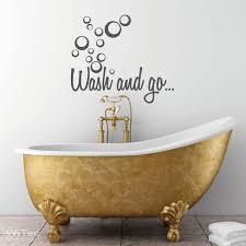 wandtattoo badezimmer badezimmer wash and go wandaufkleber