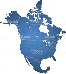 Great Lakes North America Map by North America Map Blue Stock Vector Art 511507429 Istock