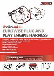 eurowise plug and play engine harnsse vr6 1 8t aba aeg tdi fsi