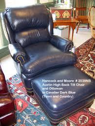 tilt back chair with ottoman hancock moore austin high back tilt 2038nb in cavalier dark blue