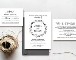 wedding invitation template instant download