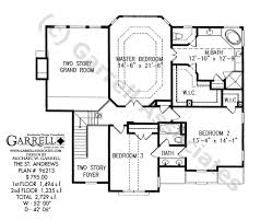 open floor house plans two story st house plan house plans by garrell associates inc