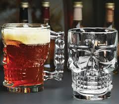 amazon com circleware clear heavy base glass skull face drinking