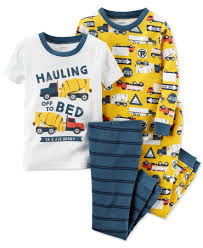 s baby boys 4 pc to bed construction pajamas set
