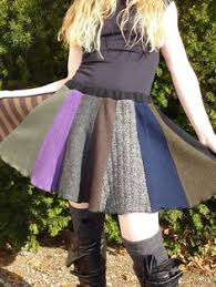 Upcycled Sweater Skirt - upcycled felted sweater w crochet edging u003d cute skirt reuse