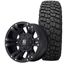 monster jeep jk xd series wrangler jk monster ii wheel and tire package 17 x9 matte