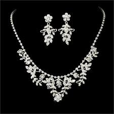 bridal necklace earrings images 57 wedding earrings and necklace sets luxury big zirconia diamond jpg