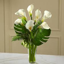 Flowers Delivered With Vase Calla Lilies