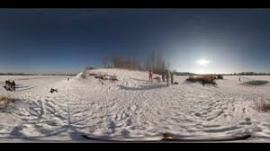 360vr winter swimming day in opole families and walking