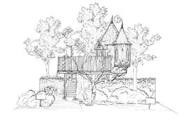 magical blue forest treehouse is a fairytale castle for your