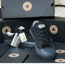 Sepatu Converse Black jual sepatu converse chuck black unisex di lapak aljili raw1