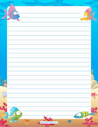 printable animal lined paper free stationery and writing paper