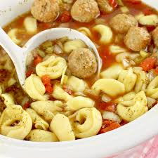 crock pot meatball and tortellini soup the country cook