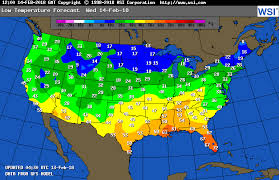us weather map forecast today intellicast low temperatures tomorrow in united states