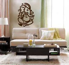 Living Room Wall Decoration Lord Ganesh Vinyl Wall Decal Hindi Hindu India Interior Design