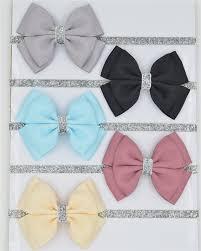 ribbon hair bow 22 color new baby hair bow flower headband silver ribbon hair band