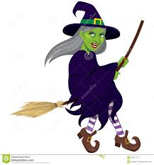 free halloween red hair witch images on white background ugly green witch flying stock vector image 58061734