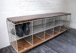 vintage industrial storage bench bring it on home