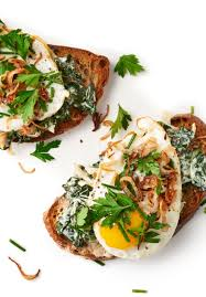 creamed greens tartine recipe creamed spinach spinach and