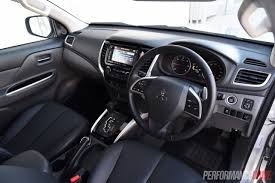 mitsubishi sport interior 2016 mitsubishi triton review gls u0026 exceed video