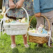 easter basket liners personalized honey willow gift basket williams sonoma